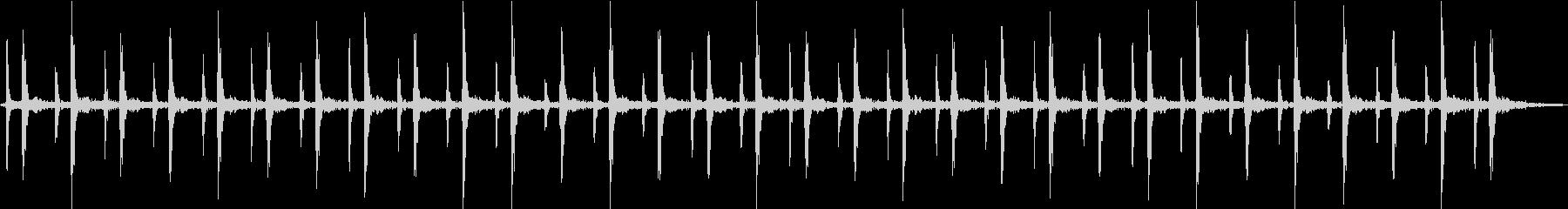 心臓の音(早い)の未再生の波形