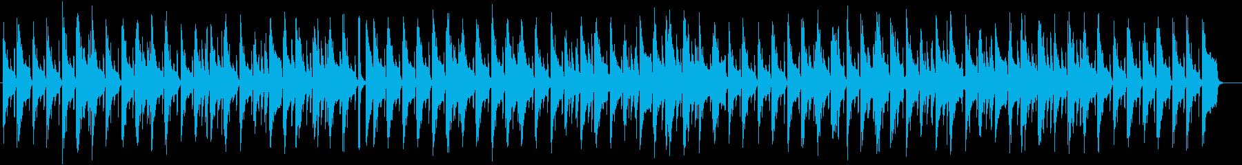かわいいスローテンポのピアノ楽曲の再生済みの波形