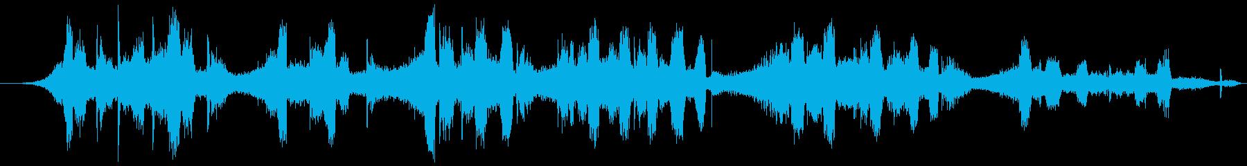 悪の聖歌、ささやき、恐怖、悪、超自然の声の再生済みの波形