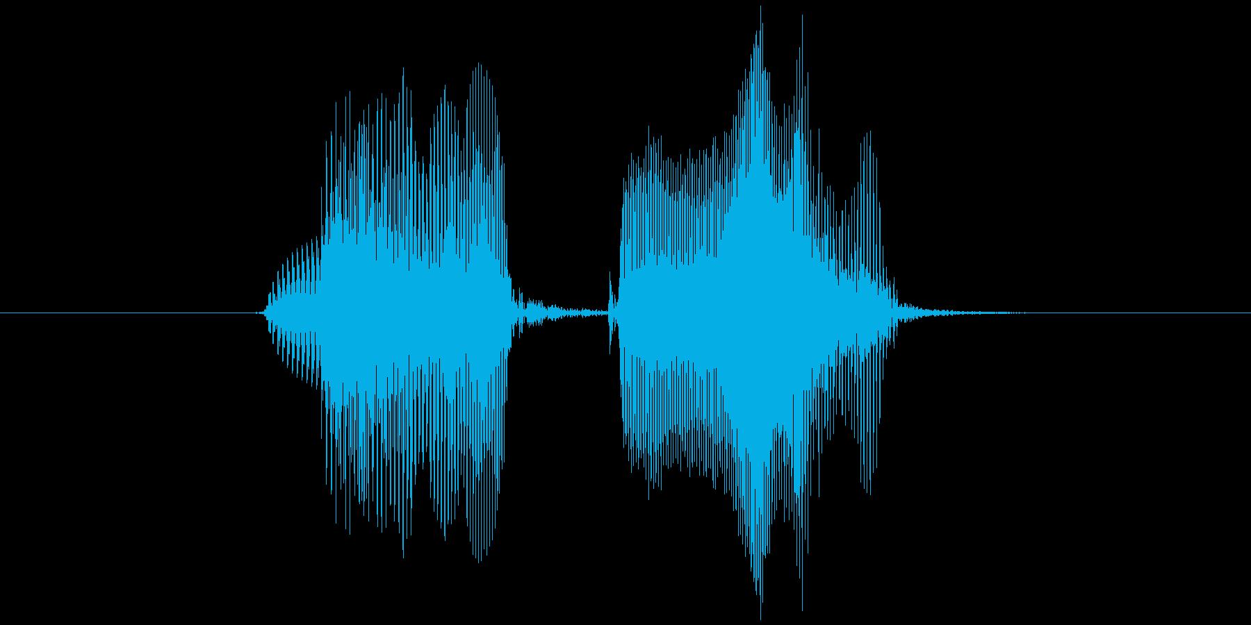 ノーペアの再生済みの波形