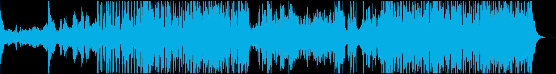 実験電子機器で技術のある曲の再生済みの波形
