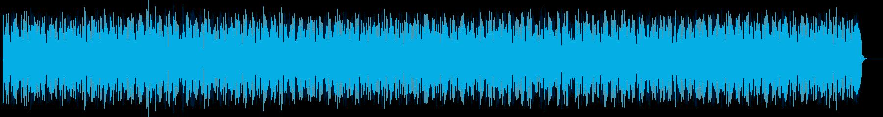 アップテンポでユニークな曲の再生済みの波形