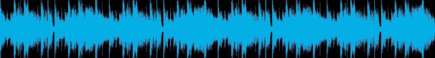 上品なエレピと少し不思議な音のドラムの曲の再生済みの波形