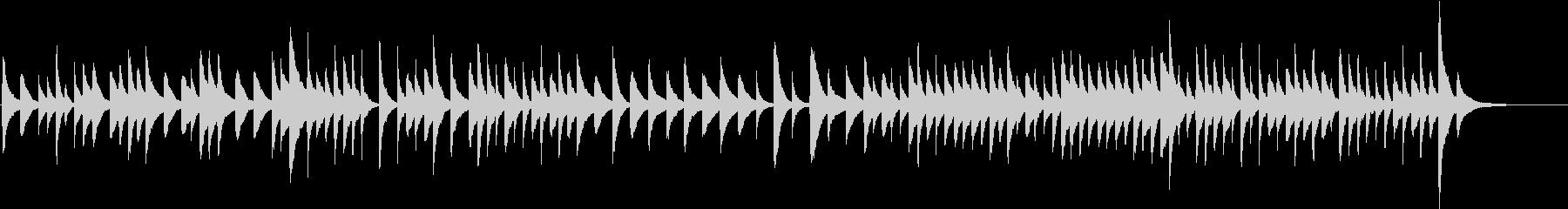 癒やしの空間をイメージしたスローな曲の未再生の波形