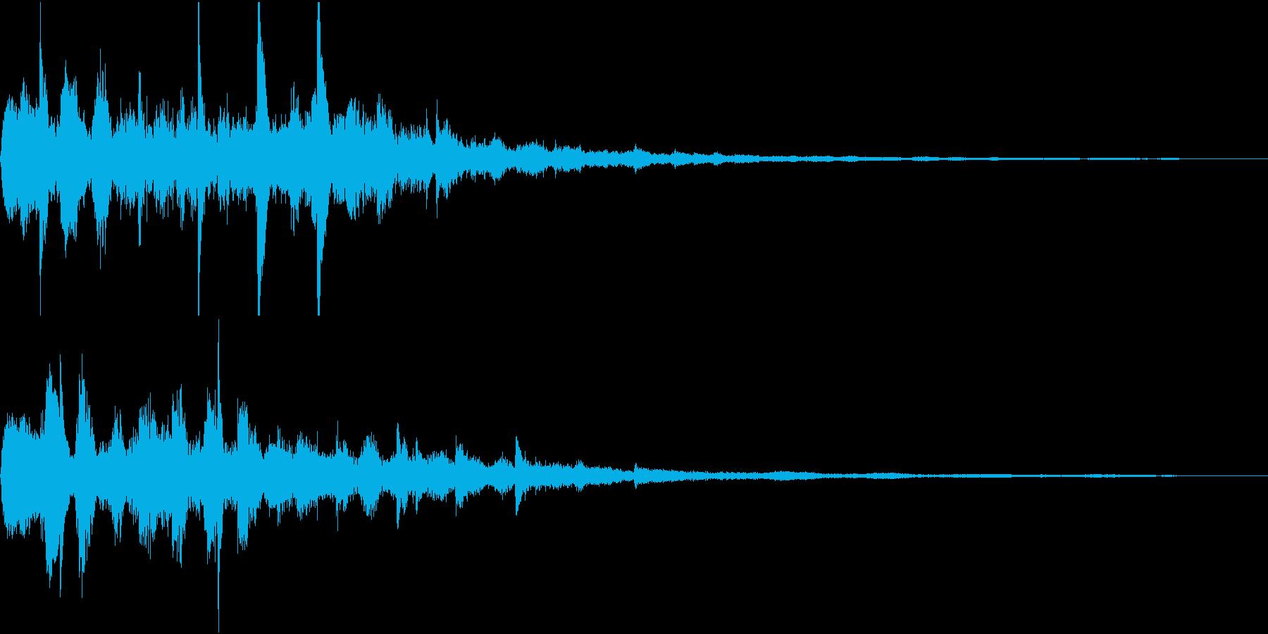 未来系スタート音01(ひゅー)の再生済みの波形