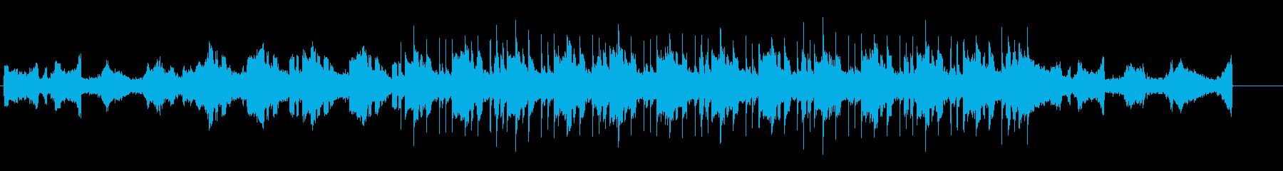 ノスタルジックなアンビエント風BGMの再生済みの波形