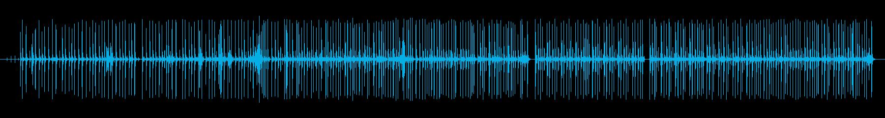 グルーブ16ビートpurdie風ドラム1の再生済みの波形