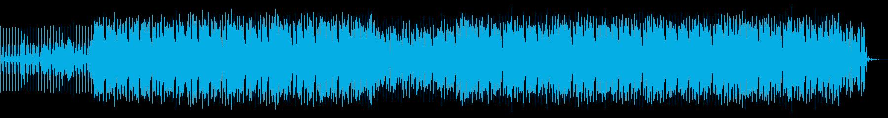 クラブでアガる手を挙げる系パリピ音楽の再生済みの波形
