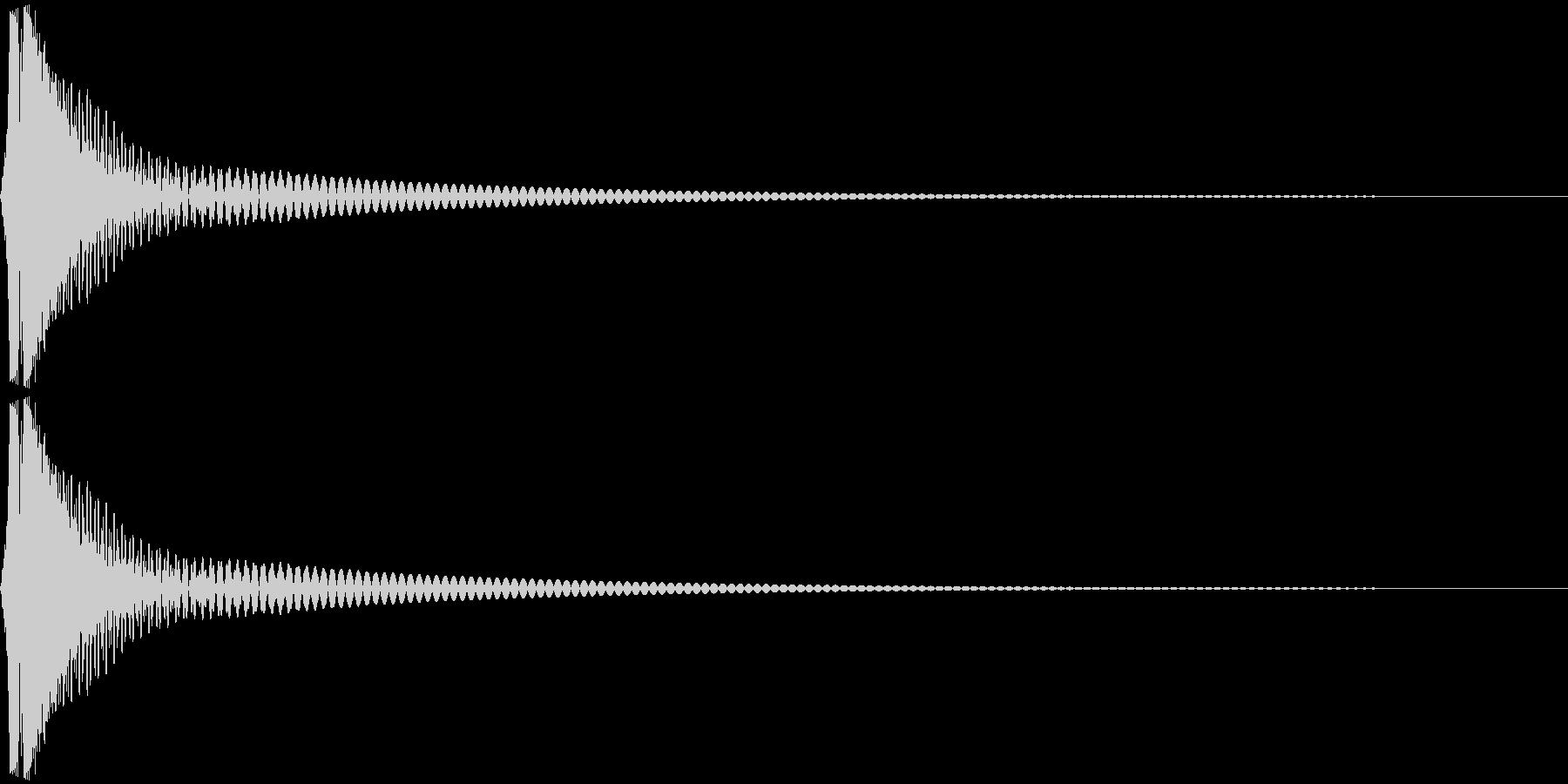 Cap フタ・栓を開ける音 4の未再生の波形