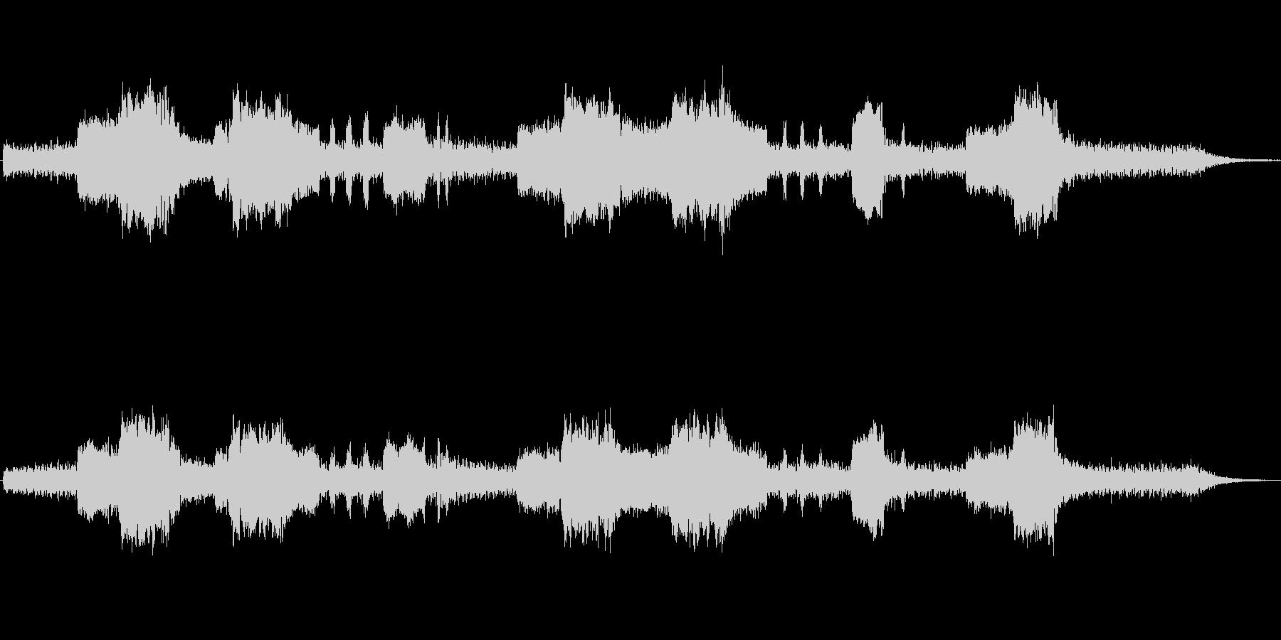 クラリネットとシンセの不気味なジングルの未再生の波形