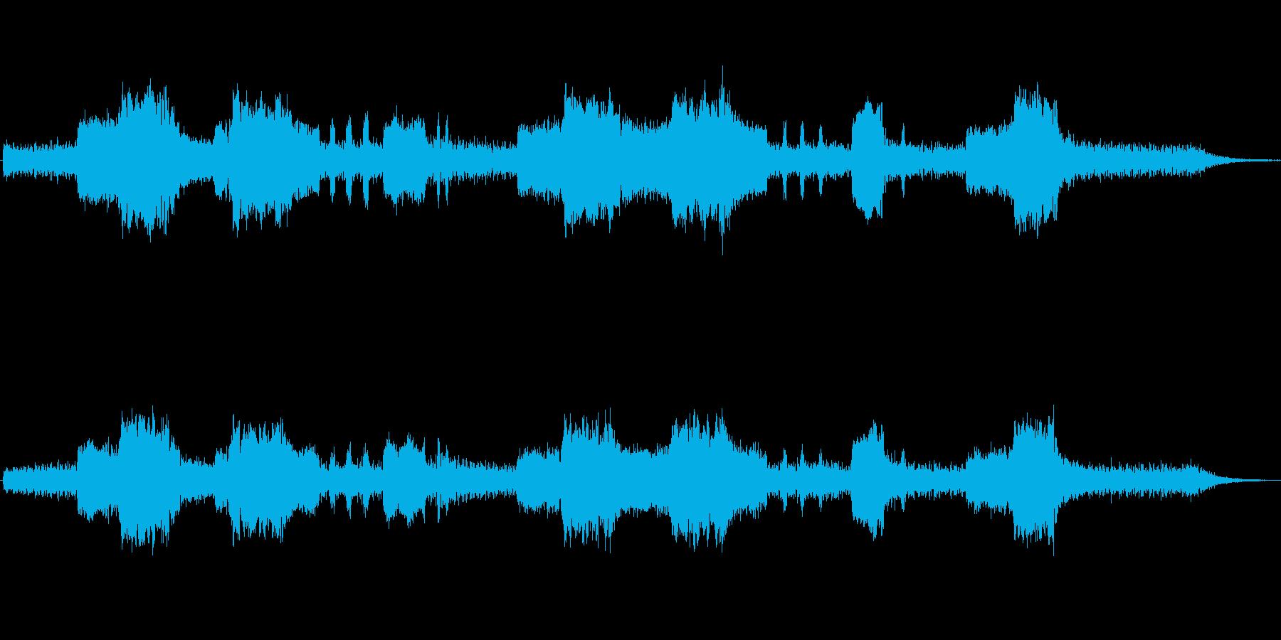 クラリネットとシンセの不気味なジングルの再生済みの波形