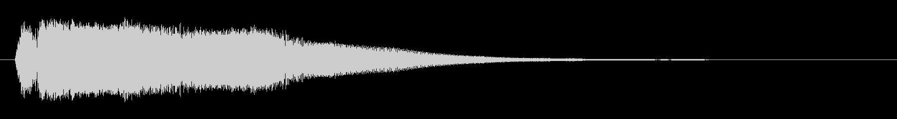 カランッ(グラスに氷を入れる効果音)の未再生の波形