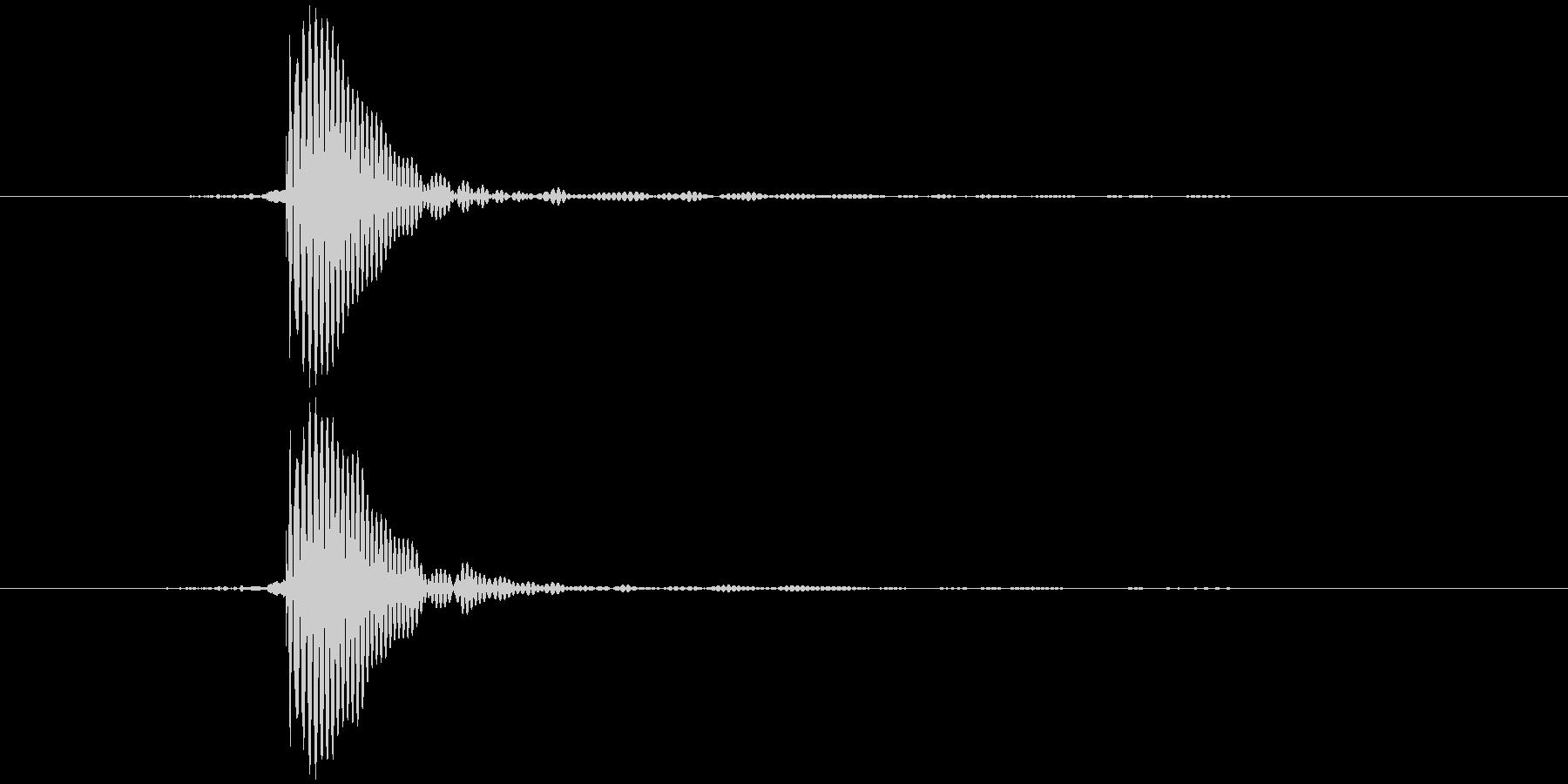 タッ テロップ音など の未再生の波形