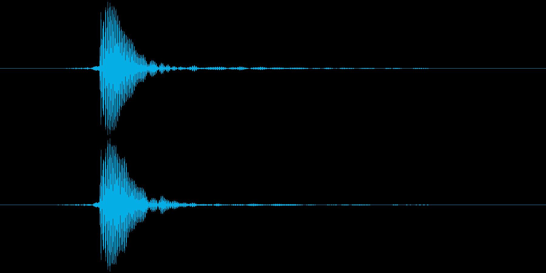 タッ テロップ音など の再生済みの波形