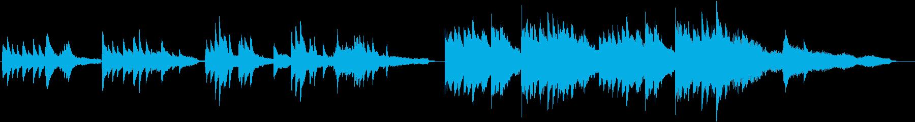 幻想的なピアノソロBGMの再生済みの波形