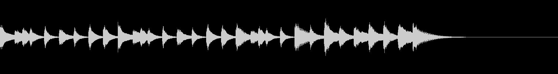 木琴のかわいい10秒のジングルの未再生の波形