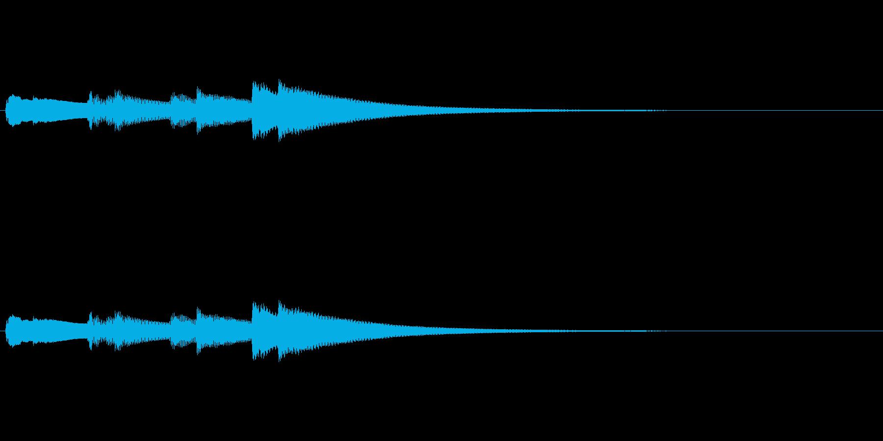 【キラキラキラキラーン】チェレスタ上昇音の再生済みの波形