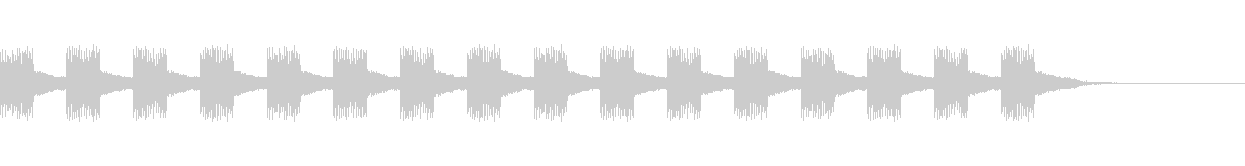 ジリジリ・・・アラーム音・警告音の未再生の波形