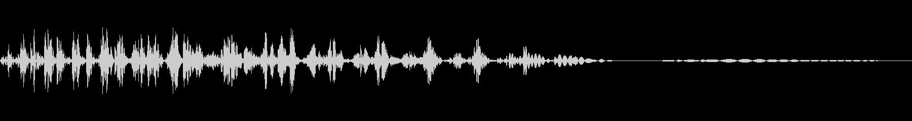 マイナス効果の魔法の効果音イメージ1の未再生の波形