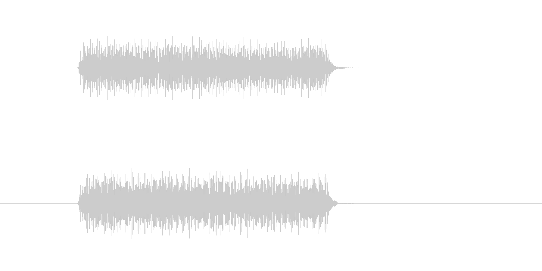 クラクション1連の未再生の波形