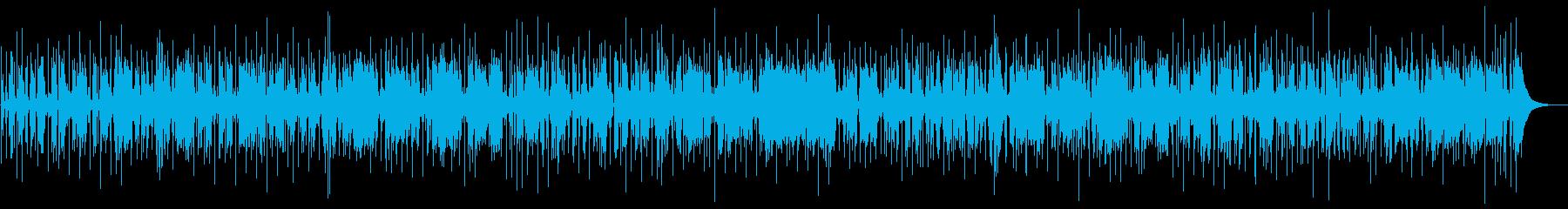 お洒落なジャズファンクBGMの再生済みの波形