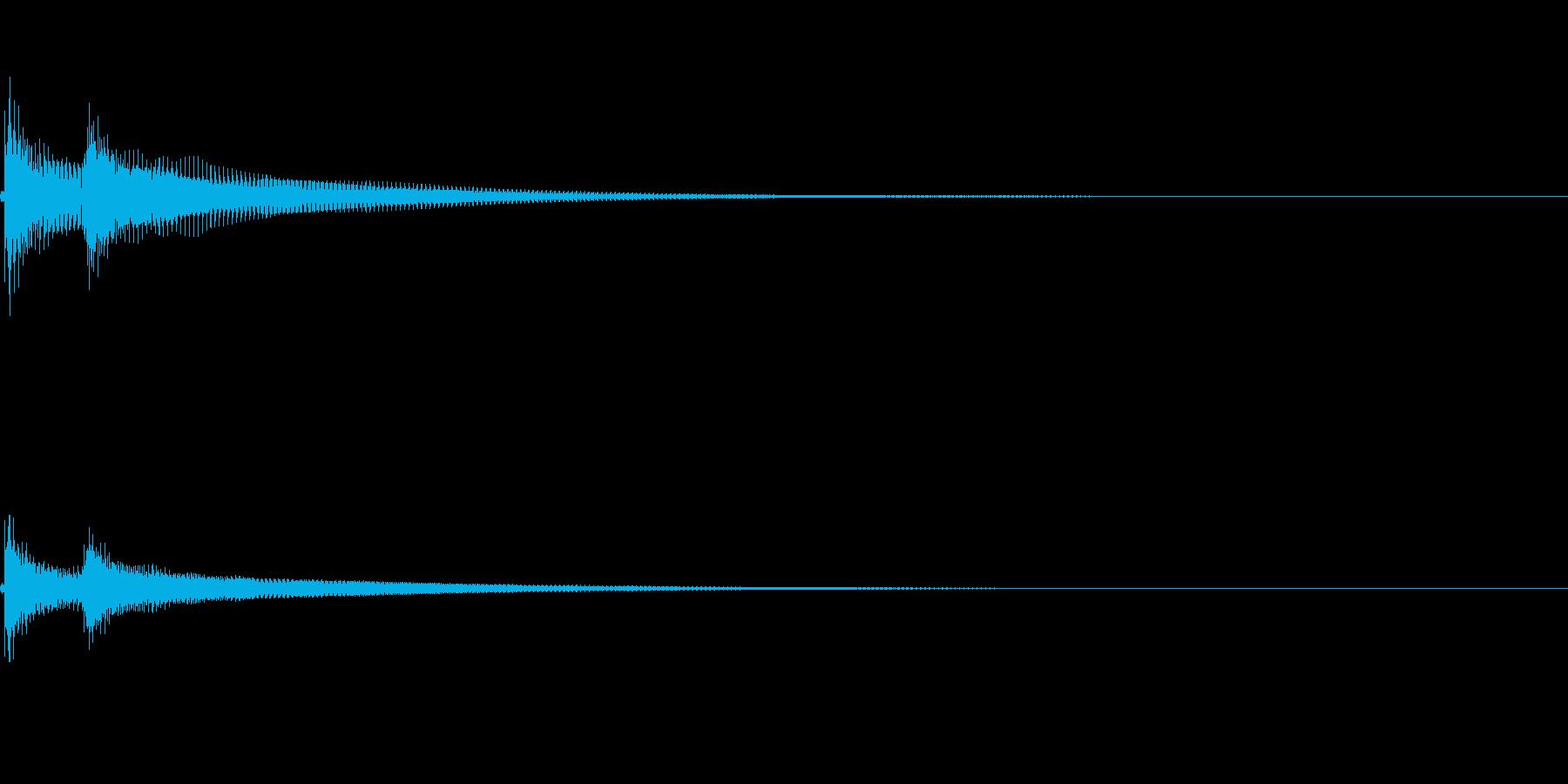 ベベン(三味線の決定音)の再生済みの波形