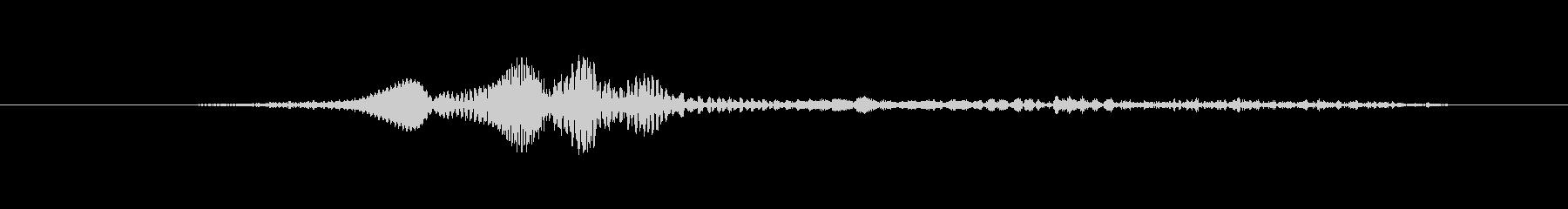 鳴き声 男性ファイトうめき声02の未再生の波形