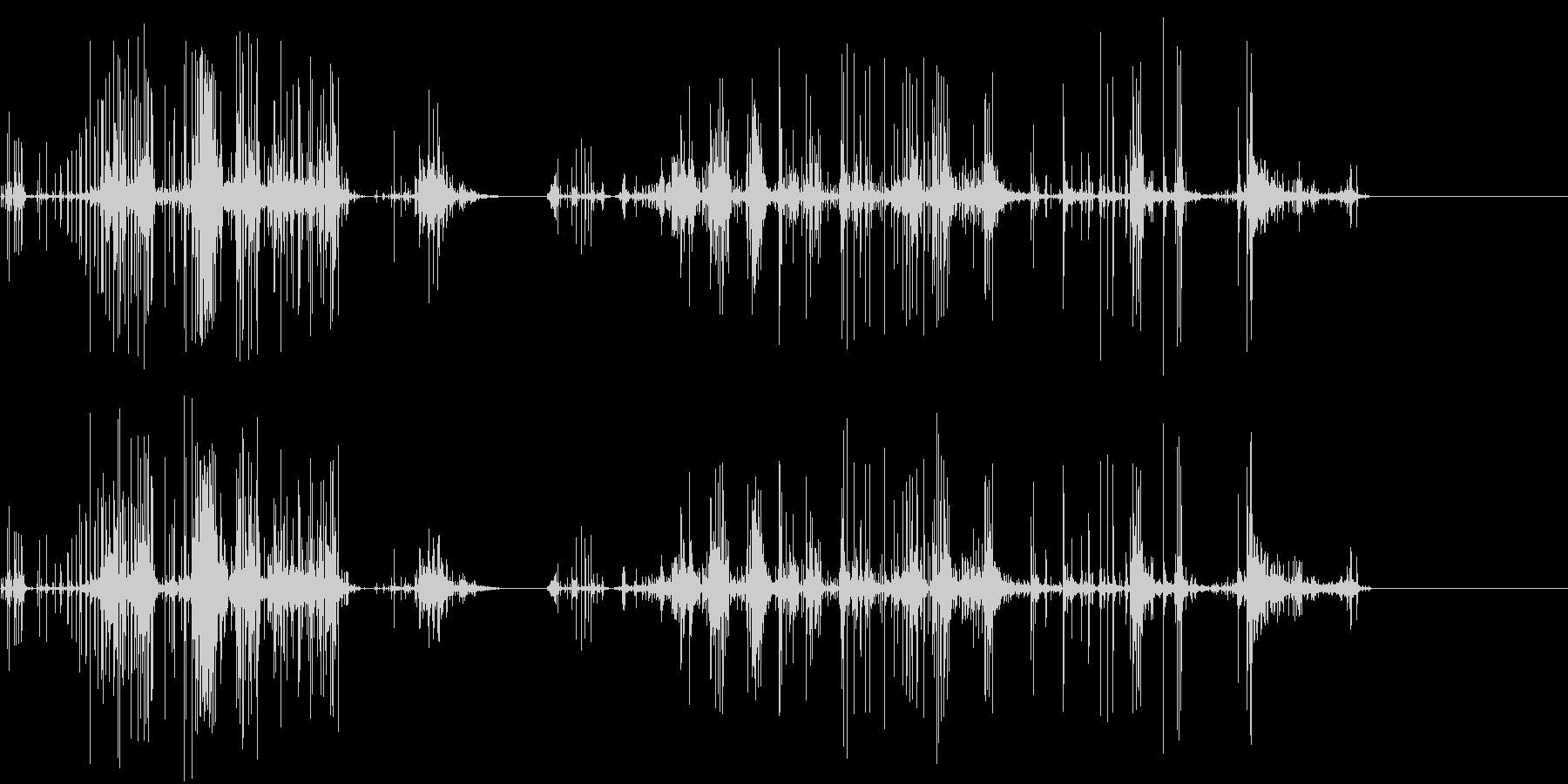 グチュグチュグチュ…の未再生の波形