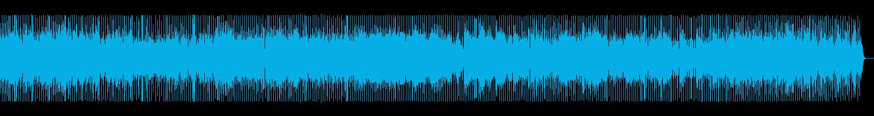 ハウスミュージック基調のシンセポップの再生済みの波形