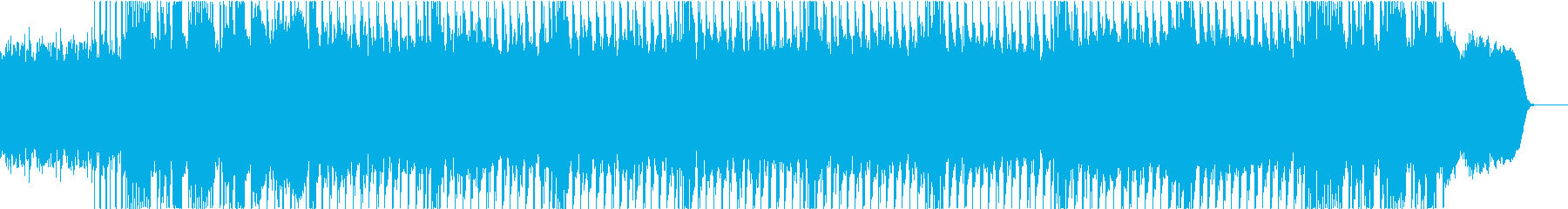 ヘビーなミュートギター刻みのメタルループの再生済みの波形