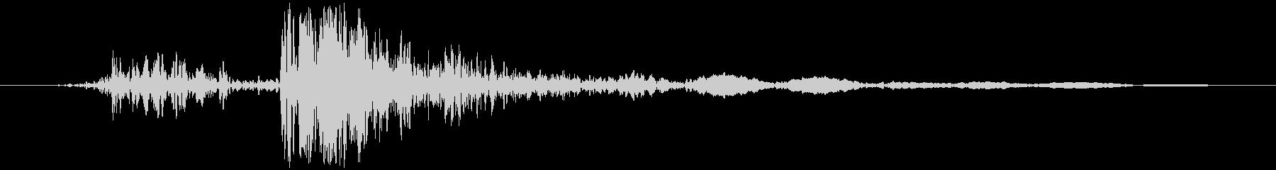 電気ポット フタの開閉音(コッ+カチッ)の未再生の波形