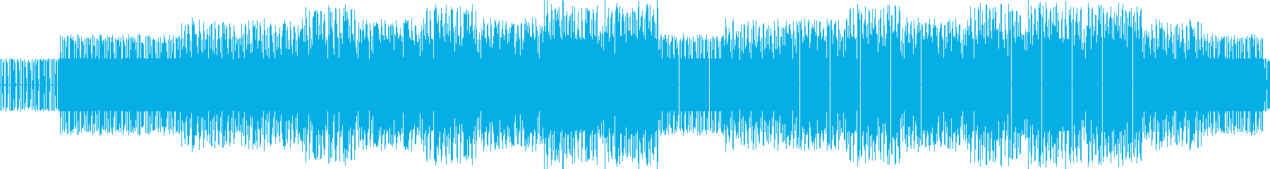 チップチューンの軽快なジャズ、ループ対応の再生済みの波形