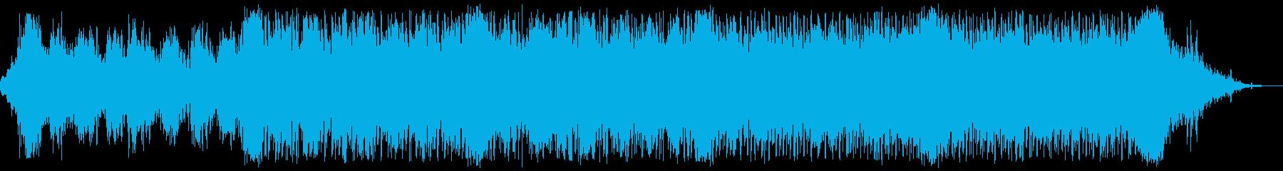 緊張のデジタルとオーケストラの疾走逃走劇の再生済みの波形