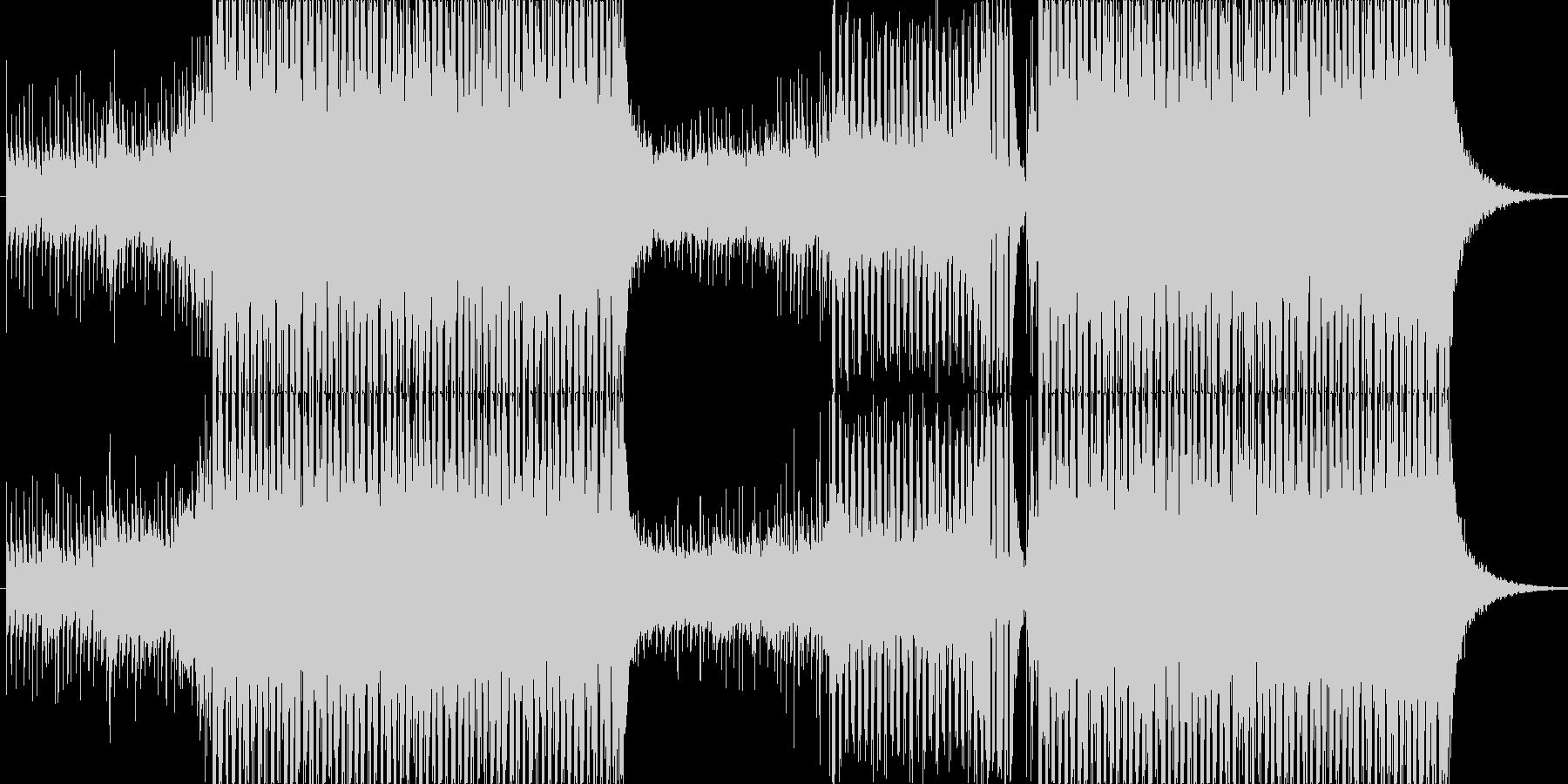 爽やかなトランス、EDMの未再生の波形