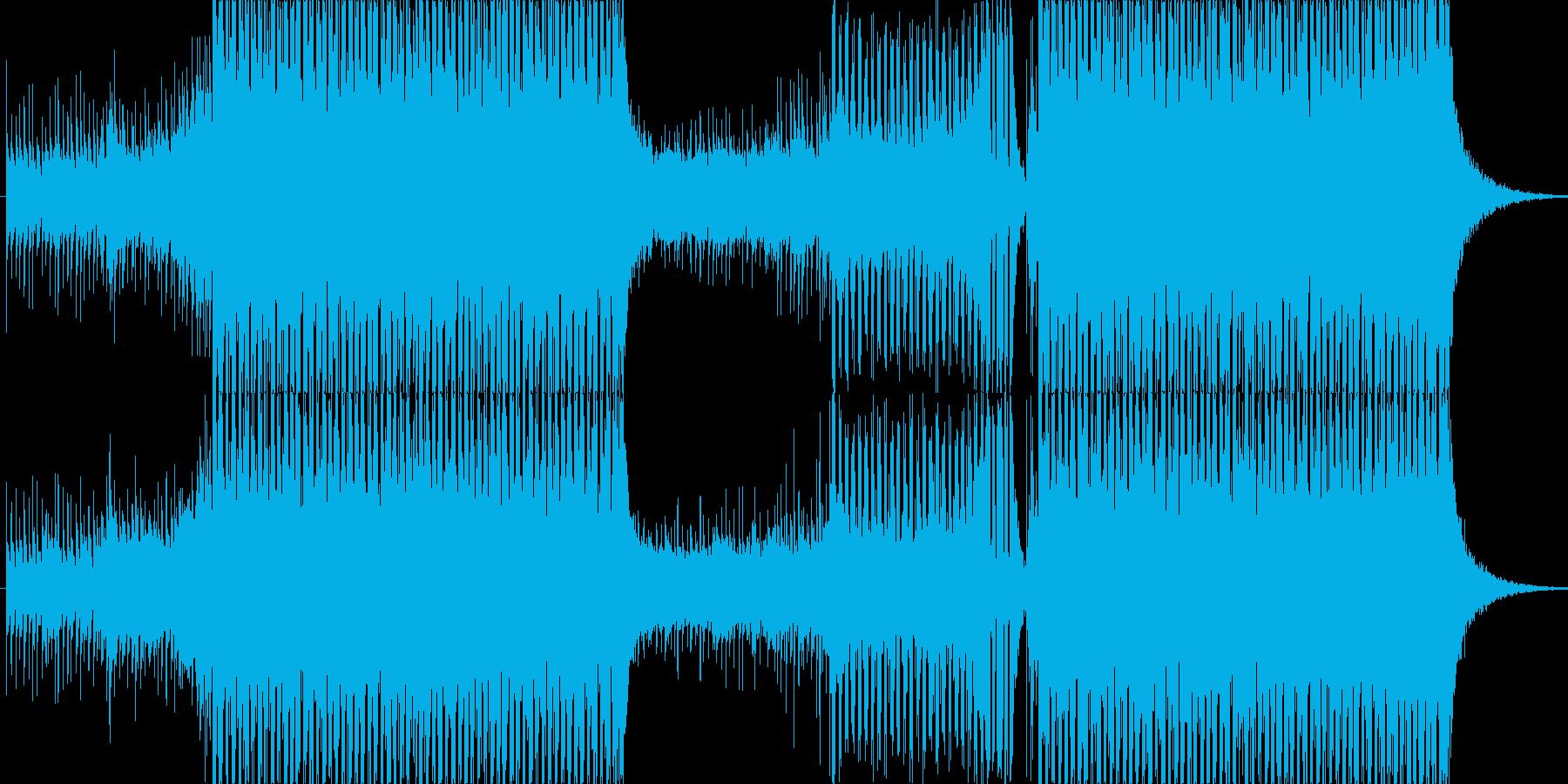 爽やかなトランス、EDMの再生済みの波形