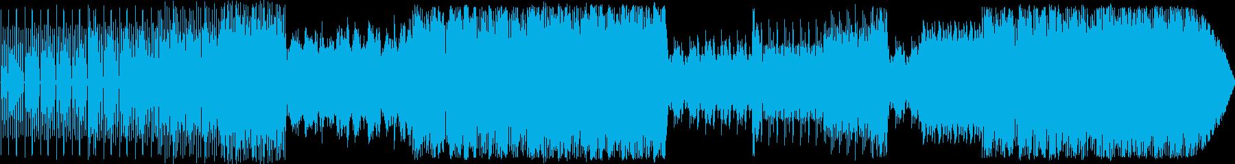 トークBGMにぴったりのデジタルビートの再生済みの波形