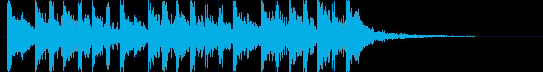 ラジオに合う爽やかポップジングル4の再生済みの波形