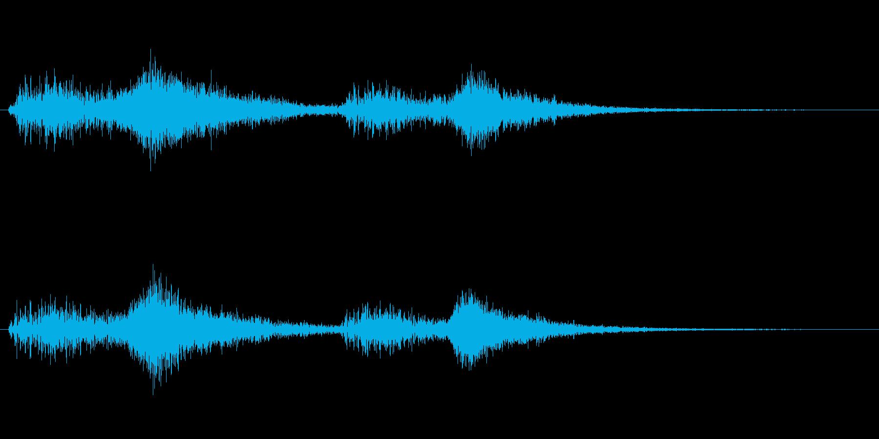 オーケストラでジャジャン ジャジャン2の再生済みの波形