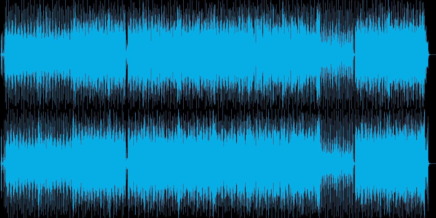 近未来的でゲームにぴったりの電子音曲の再生済みの波形