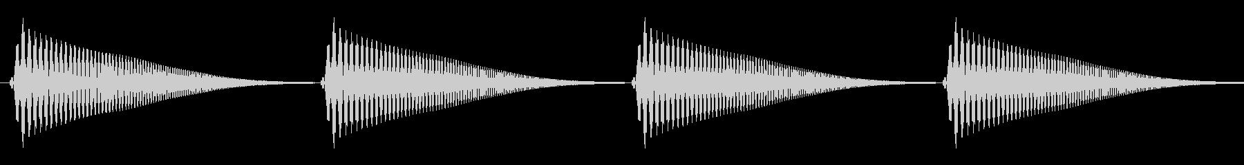 雲(もくもく/移動/コミカル)の未再生の波形