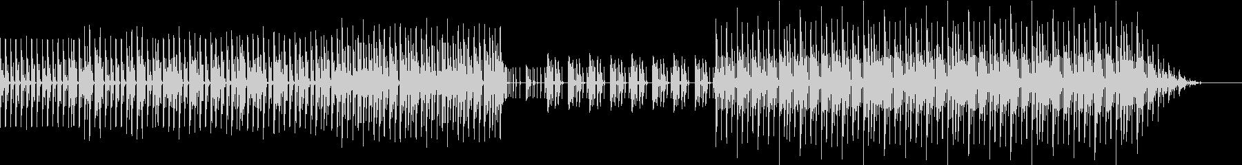 シンプルなエレクトロファンクの未再生の波形