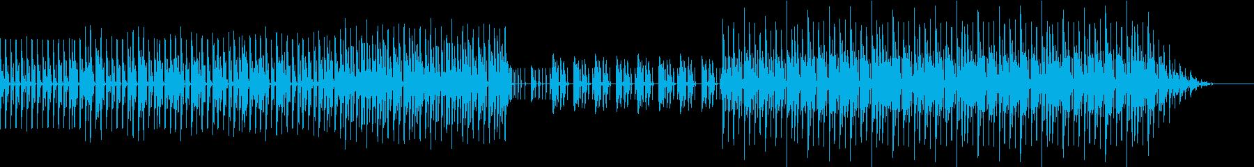 シンプルなエレクトロファンクの再生済みの波形