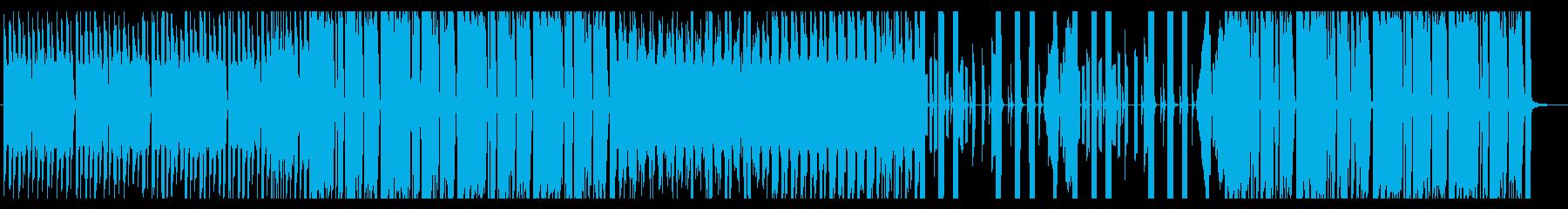 勢いのあるエレクトロハウスの再生済みの波形
