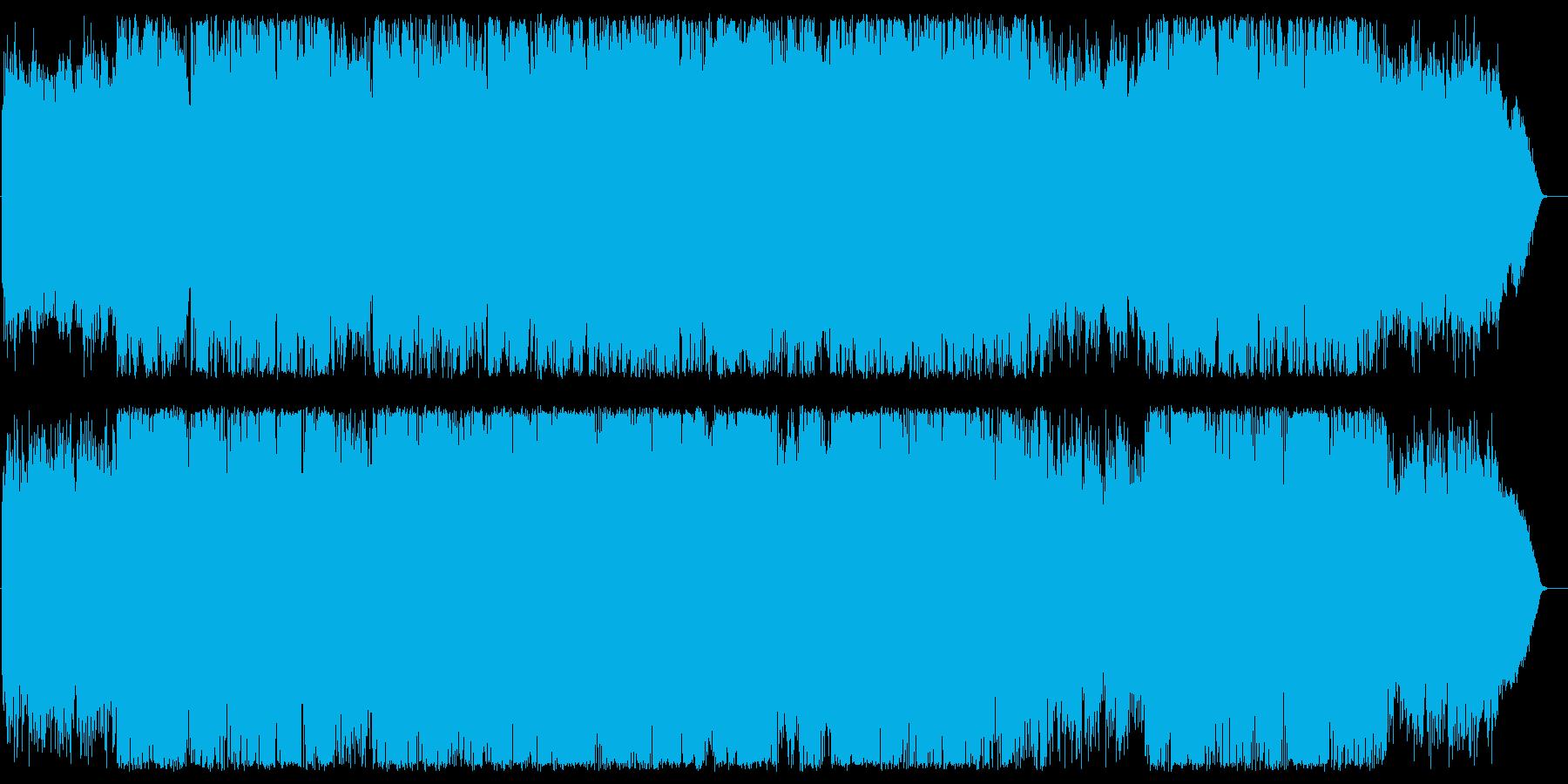 爽やかで美しく神秘的なフルートの再生済みの波形
