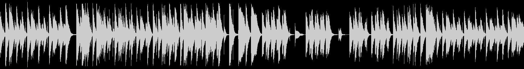 ピアノと木琴がかわいい日常系BGM の未再生の波形