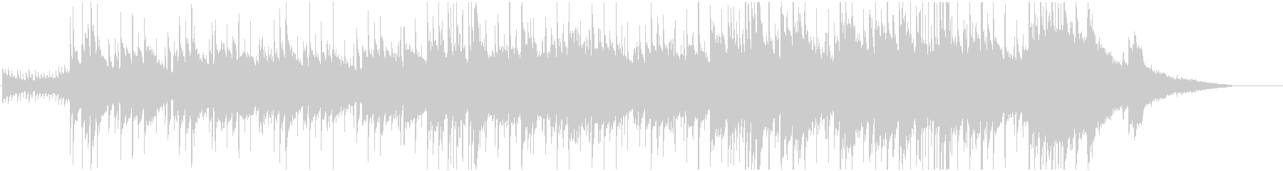 ロマンチックなピアノBGMの未再生の波形