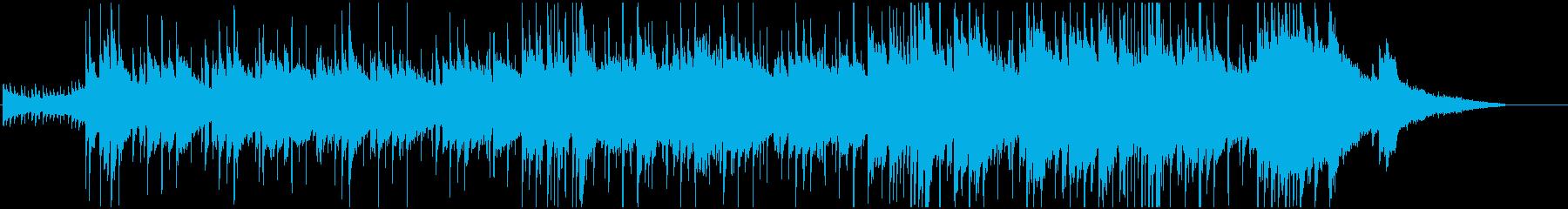 ロマンチックなピアノBGMの再生済みの波形