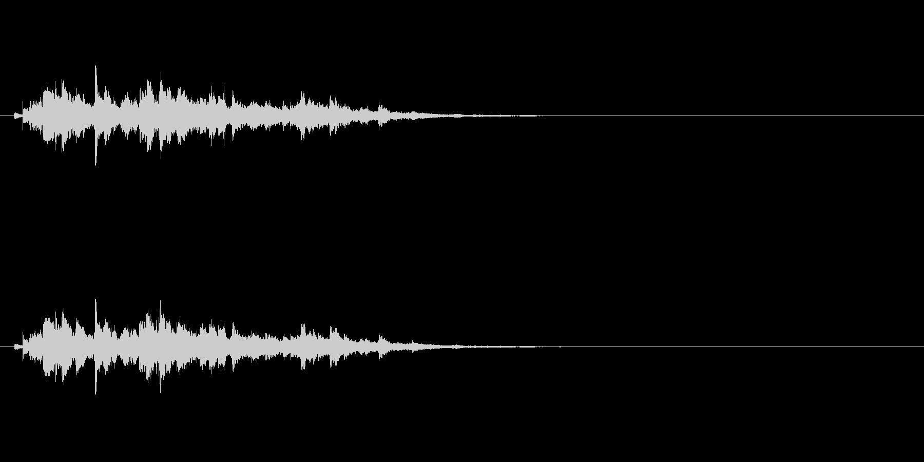 キラキラキラキラ〜/ウィンドチャイムの音の未再生の波形