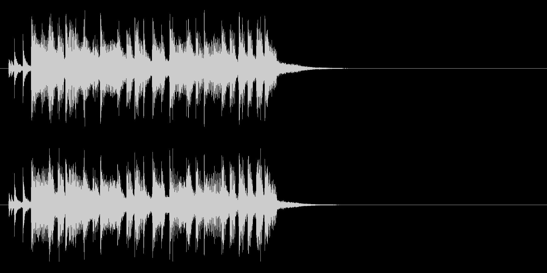 ジングル(ロック・タイプ)の未再生の波形