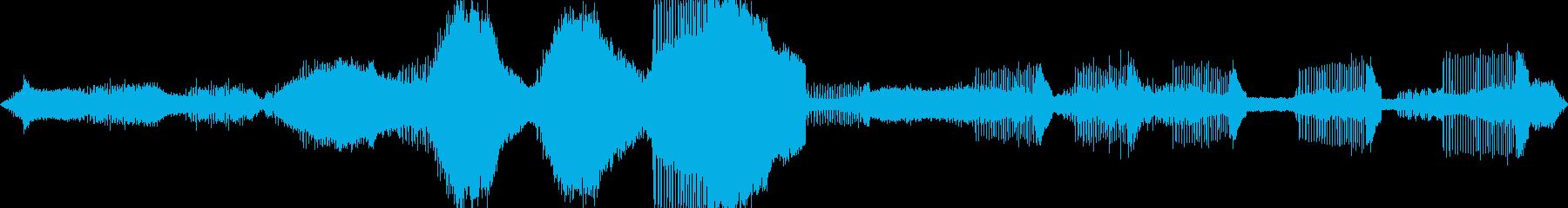 最高級のバイノーラルマイクでセミの声を!の再生済みの波形